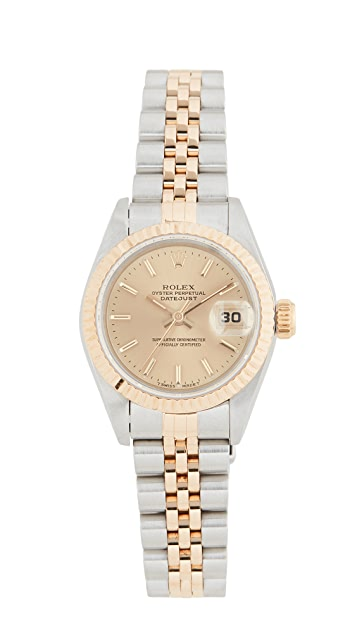 Pre-Owned Rolex Ladies Rolex Champagne Stk Dial, Fluted Bezel, Jubilee Band