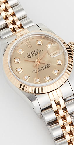 Pre-Owned Rolex - Ladies Rolex Champagne Diamond Dial, Fluted Bezel, Oyster Band