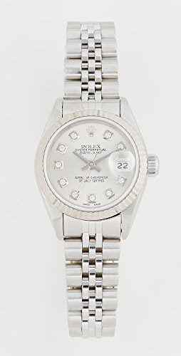 Pre-Owned Rolex - Ladies Rolex Silver Diamond Dial, Fluted Bezel, Jubilee Band