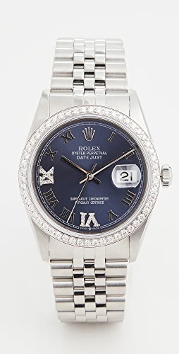Pre-Owned Rolex - 36mm Gents Rolex Date Just Purple Watch