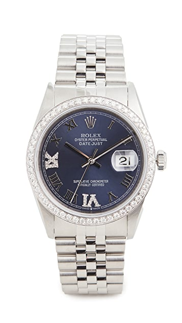 二手 Rolex 36mm Gents Rolex Date Just Purple 腕表