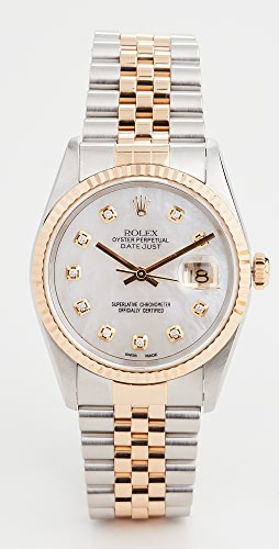 Pre-Owned Rolex - 36MM Gents TT Rolex Date Just White