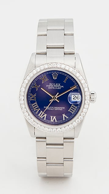 Pre-Owned Rolex Mid Size 31mm Rolex Date Just Blue