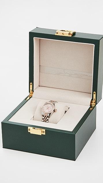 Pre-Owned Rolex Ladies 26mm TT 18KT Rose Gold Pink Stick Watch