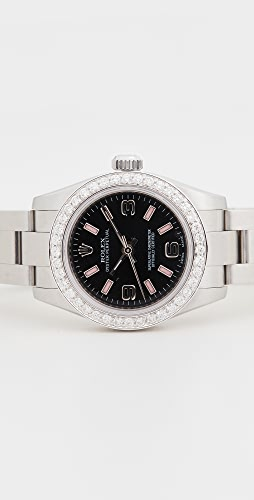 Pre-Owned Rolex - Ladies 26mm 黑色阿拉伯粉色表盘腕表