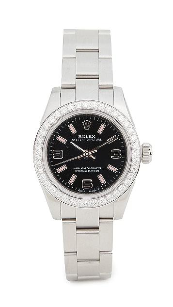 二手 Rolex Ladies 26mm 黑色阿拉伯粉色表盘腕表