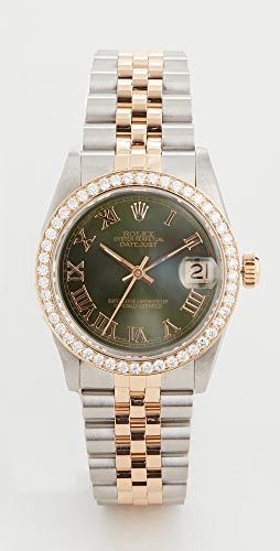Pre-Owned Rolex - 中等尺寸 31mm TT Rolex Date Just Olive 腕表