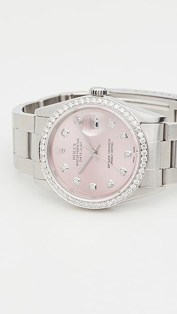 二手 Rolex 36mm Gents Rolex Date Just Pink