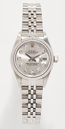 Pre-Owned Rolex - 26mm Rolex Just Silver Diamond Watch