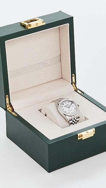 二手 Rolex 36mm Gents SS Rolex 罗马白钻腕表