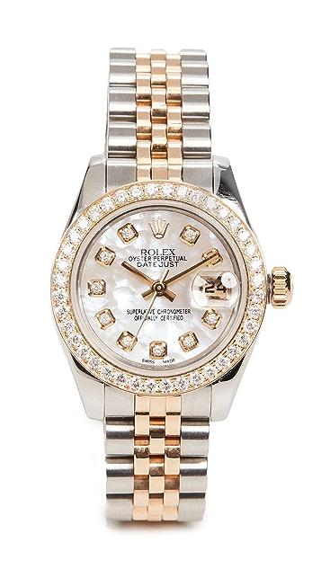 二手 Rolex TT Rolex 26 毫米女士白色钻石腕表