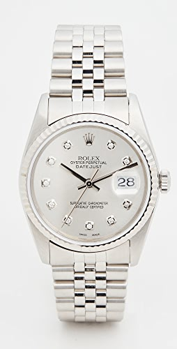 Pre-Owned Rolex - 36mm Gents SS Rolex Date Just Silver