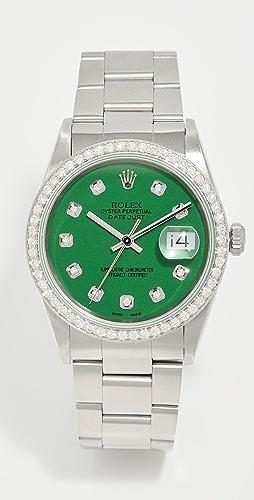 Pre-Owned Rolex - Rolex Datejust Model Green Diamond Watch 36mm