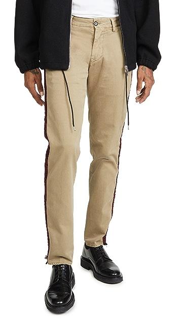 President's Cut Hem Gabardine Trousers