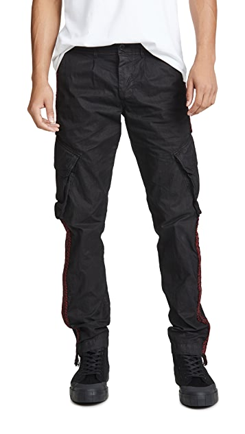 President's Jungle Cargo Trousers With Embroidered Taping