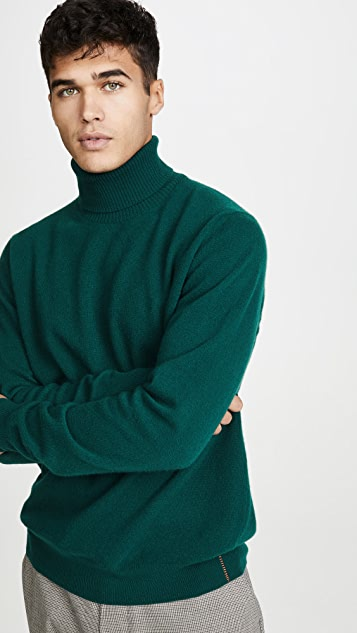 President's Washed Wool Turtleneck Sweater