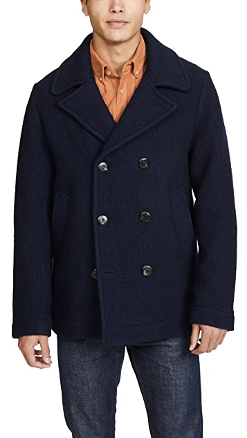 President's Boiled Wool Hitch Peacoat