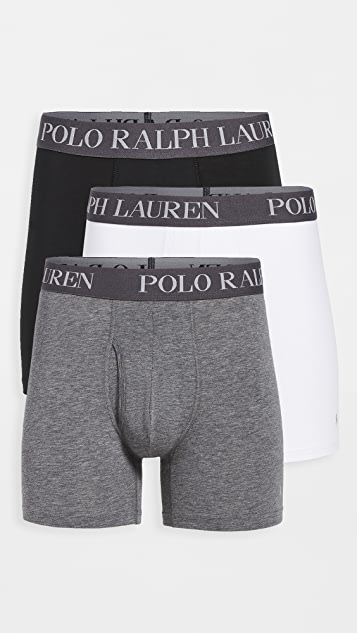 Polo Ralph Lauren Underwear 3 Pack 4D-Flex Lightweight Boxer Briefs
