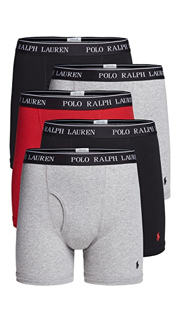 Polo Ralph Lauren Underwear 5 Pack Classic Fit Boxer Briefs