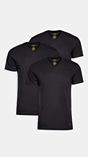 Polo Ralph Lauren Underwear 3 Pack Slim Fit V Neck Tees