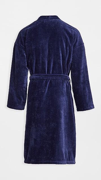 Polo Ralph Lauren Underwear Solid Velour Kimono Robe