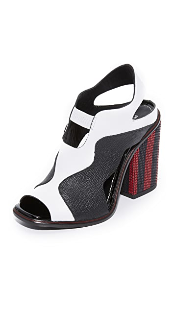 Proenza Schouler Сандалии на квадратных каблуках