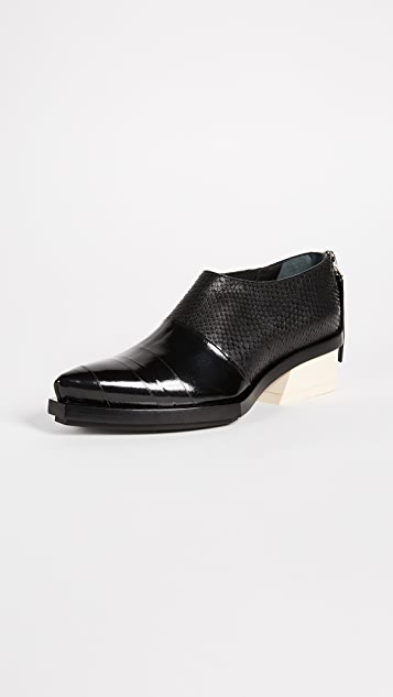 Proenza Schouler Pointed Toe Booties - Black Multi
