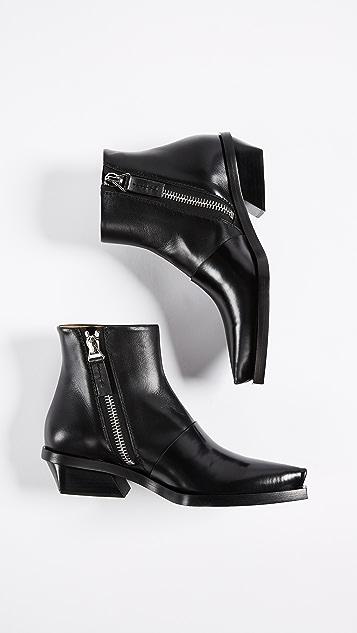 Proenza Schouler Block Heel Ankle Booties