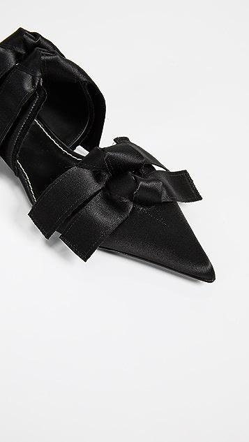 Proenza Schouler Pointed Kitten Heel Flats
