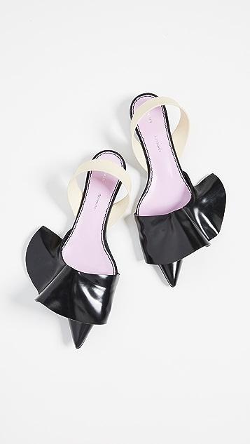 afe0089836c Proenza Schouler Ruffle Kitten Heel Flats