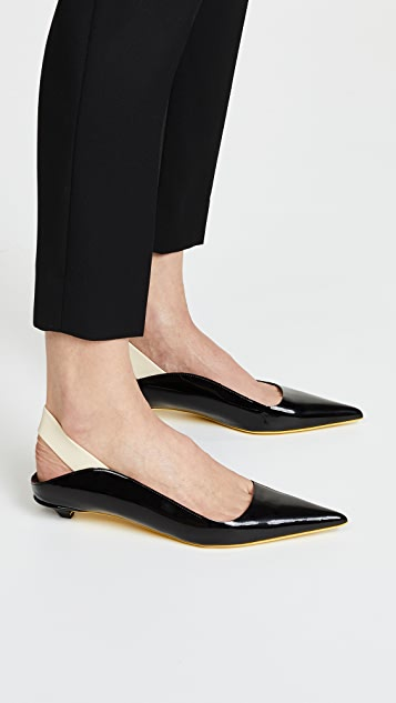 Proenza Schouler Rubber Strap Patent Kitten Heel Flats