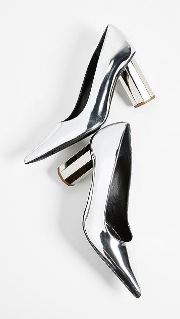 Proenza Schouler Silver Specchio Pumps