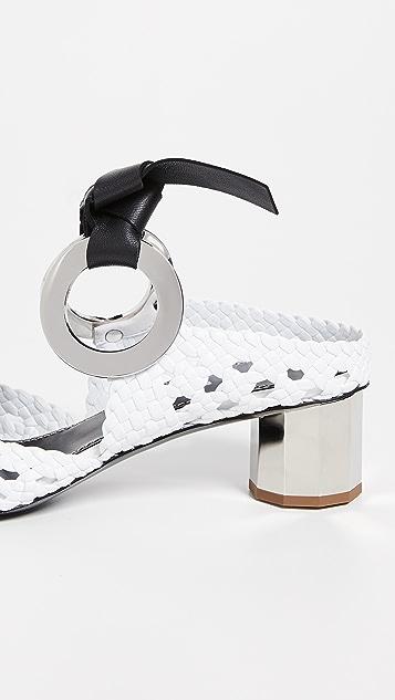Proenza Schouler Плетеные туфли без задников с завязками