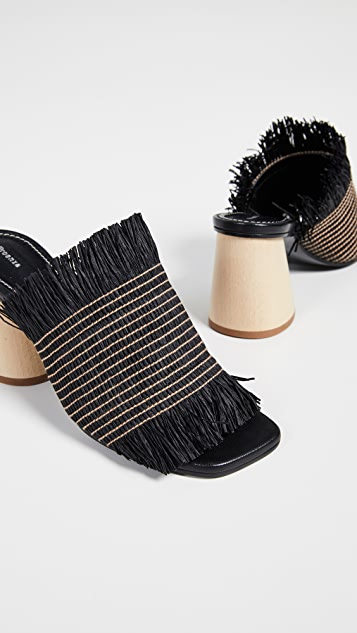 Proenza Schouler Туфли без задников с бахромой