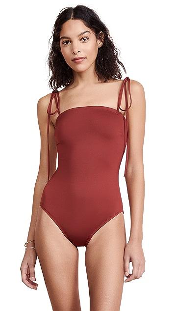 Proenza Schouler Bandeau One Piece Swimsuit