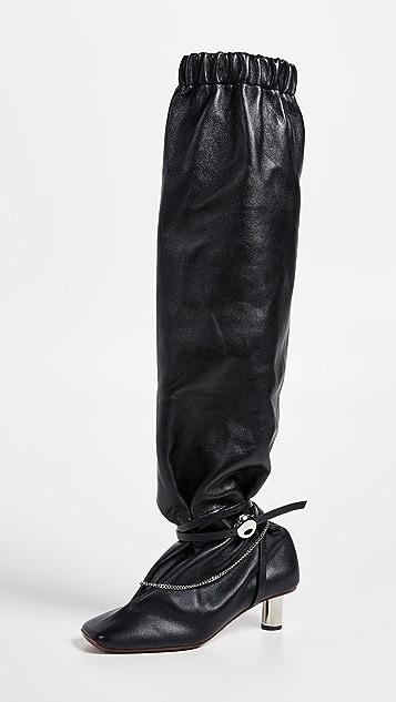 Proenza Schouler Высокие сапоги с цепочками
