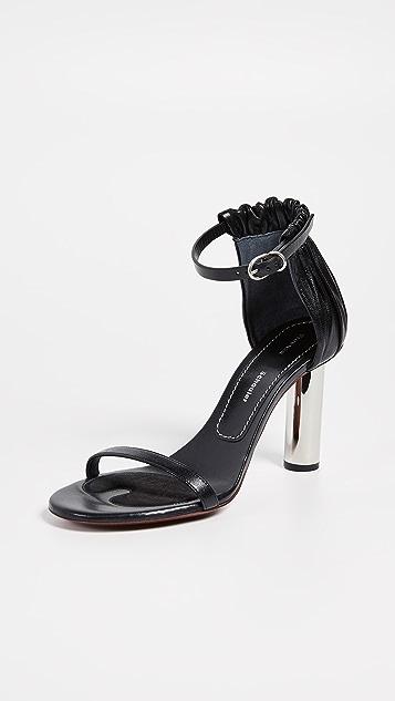 Proenza Schouler Высокие серебристые сандалии