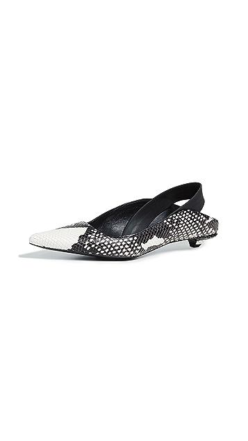 Proenza Schouler Туфли с ремешком на пятке с принтом под змею
