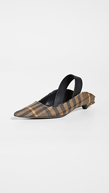 Plaid Slingback Pumps by Proenza Schouler