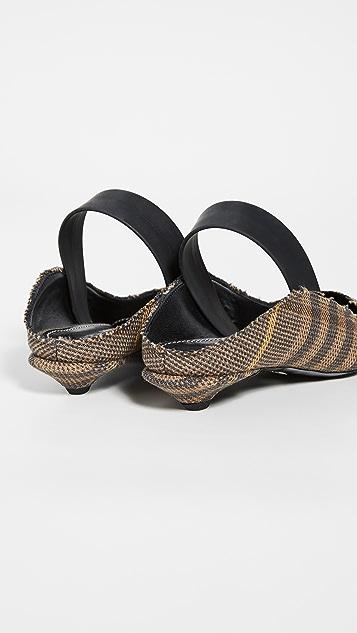 Proenza Schouler Туфли-лодочки в клетку с ремешком на пятке