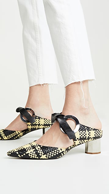 Proenza Schouler 梭织穆勒鞋