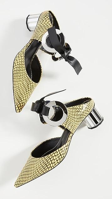 Proenza Schouler 正面系带穆勒鞋