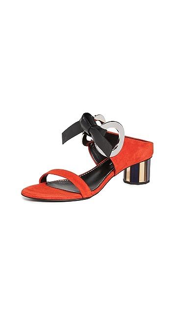 Proenza Schouler Front Tie Mule Sandals
