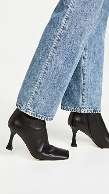 Proenza Schouler Square Toe Ankle Boots