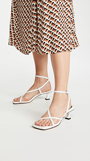 Proenza Schouler Square Toe Low Strappy Sandals