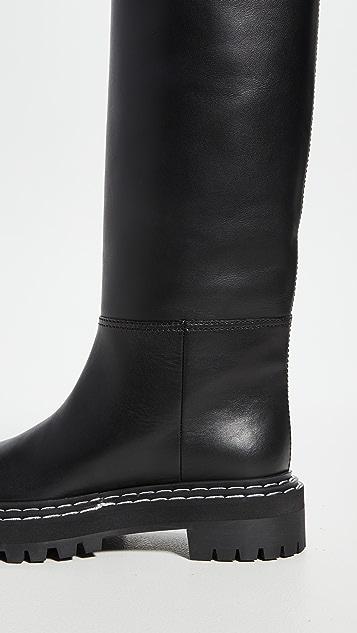 Proenza Schouler 沟纹鞋底高筒靴