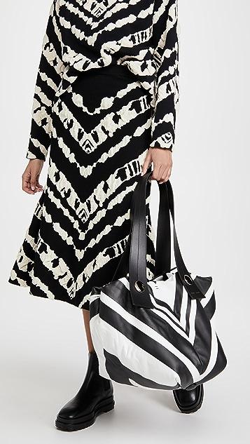 Proenza Schouler Small Nappa Stripes Tobo Bag