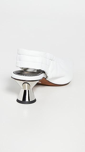 Proenza Schouler 低跟露跟鞋