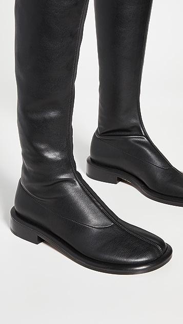 Proenza Schouler Pipe 抽褶过膝靴
