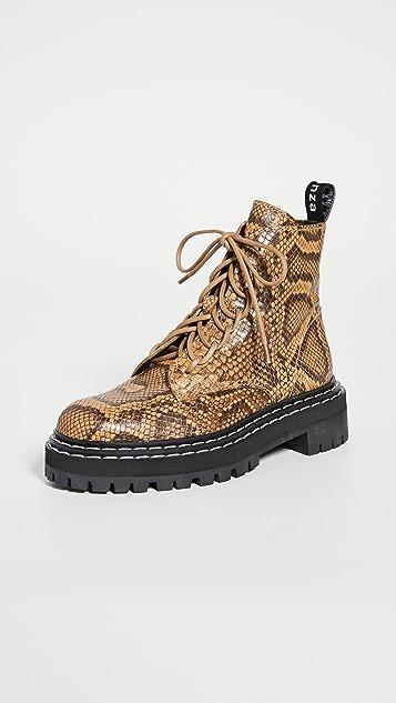 Proenza Schouler 蛇皮军旅靴
